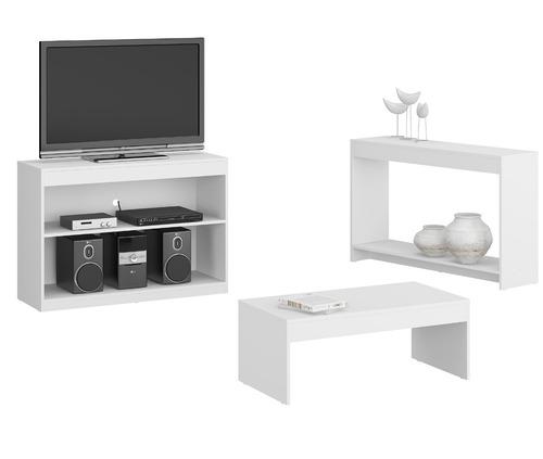 mueble rack para pantalla+ consola+ mesa   combo  730.0003