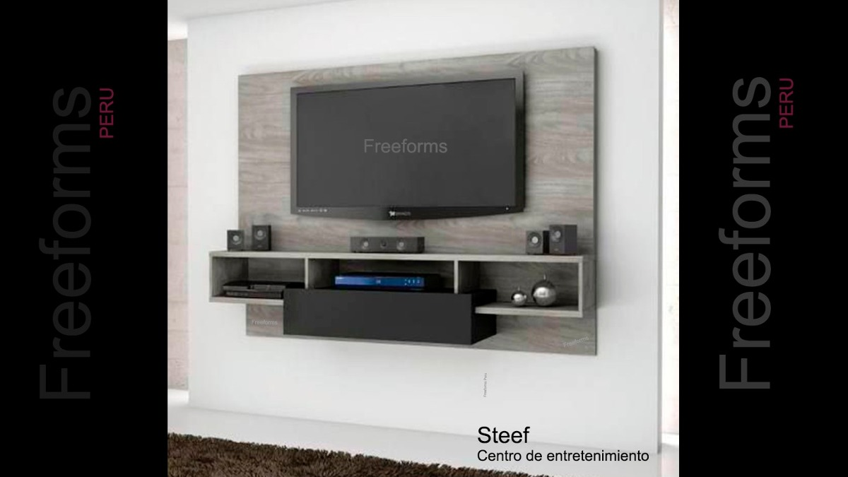 Mueble rack para tv centro de entretenimiento gratis for Mueble giratorio para tv