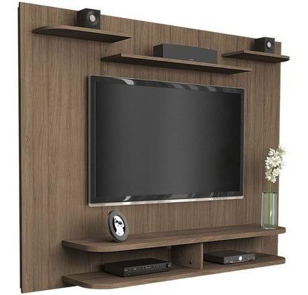 mueble rack para tv melamina flotante m9