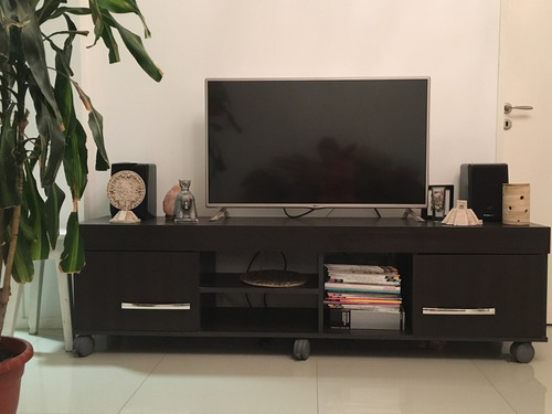 Mueble rack tv lcd color wengue, para armar excelente estado ...