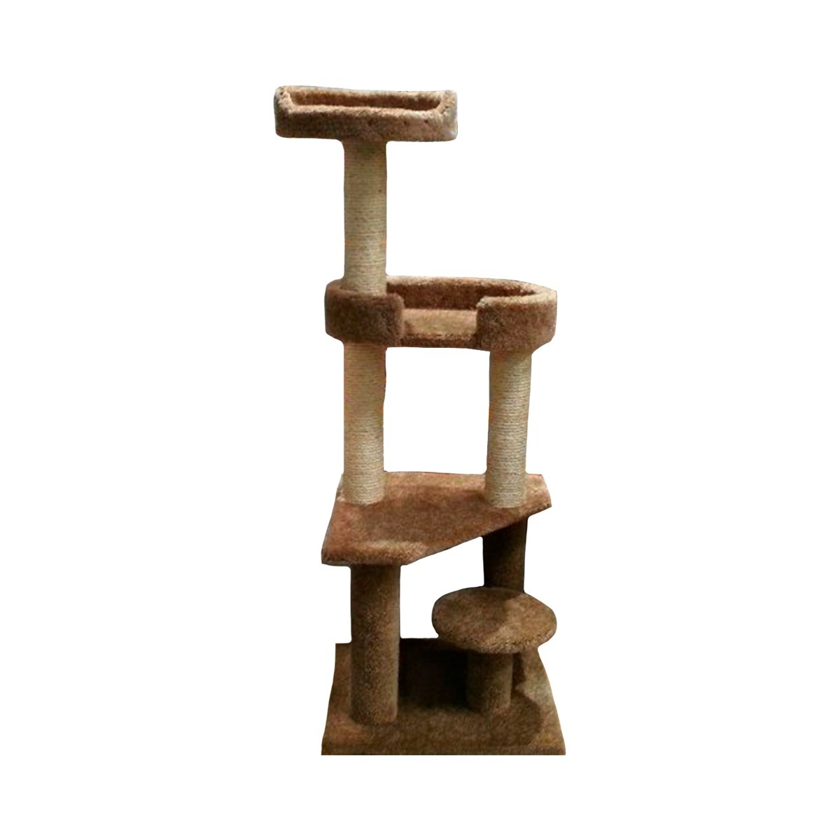 Mueble rascador para gatos rbol 3 pisos 1 en - Mueble arenero para gatos ...