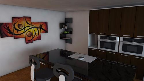 mueble repisa esquinero decorativo minimalista
