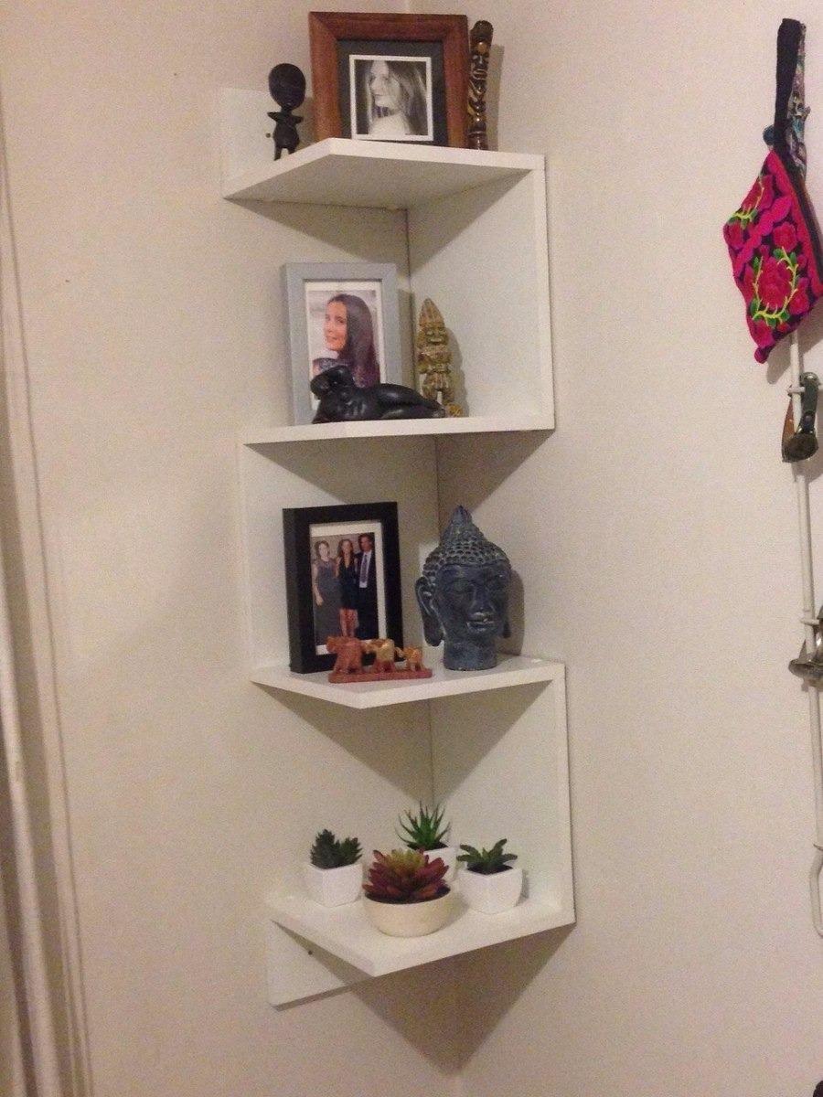 Mueble repisa esquinero decorativo minimalista funcional for Esquineras de pared