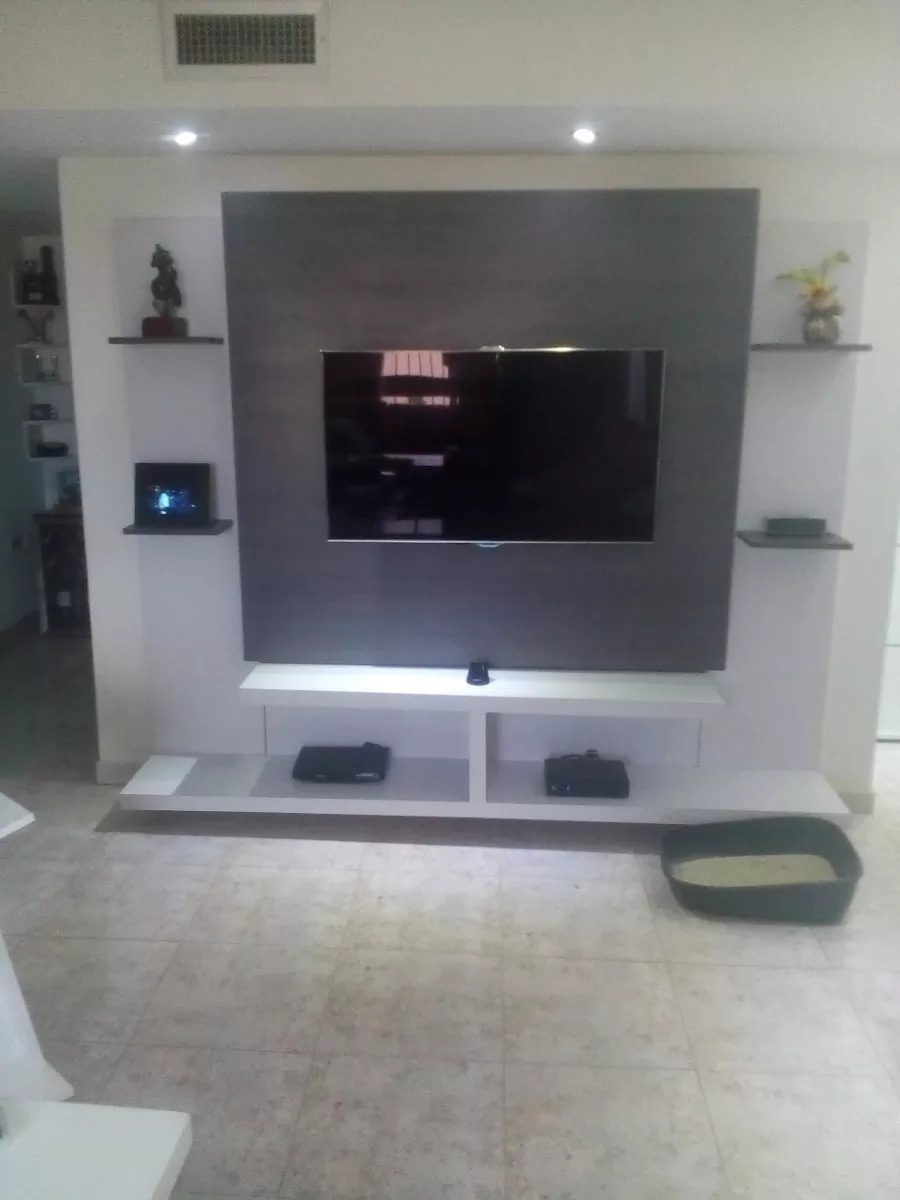 Mueble repisa minimalista tv a reo modernos bs for Mueble tv minimalista