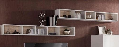 mueble repisa modelo san remo juego de 2 módulos