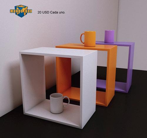 mueble repisa o estante modular cubo