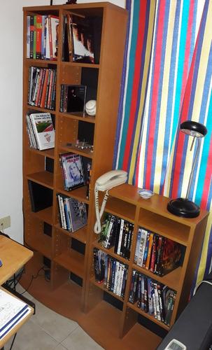 mueble repisas ajustables para organizar cds dvds libros