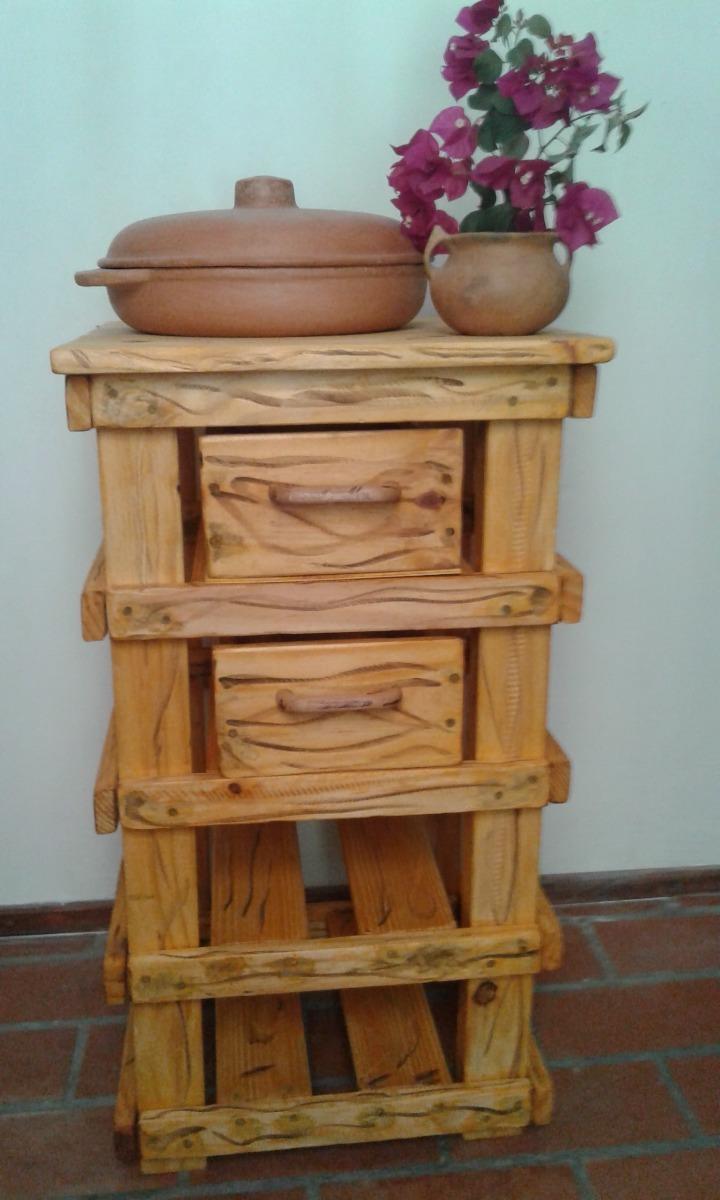 Mueble Rústico De Cocina Barnizado