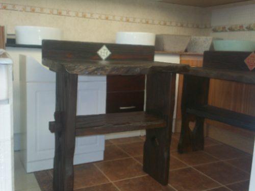 Mueble rustico para bacha de ba o en mercado for Muebles maldonado precios