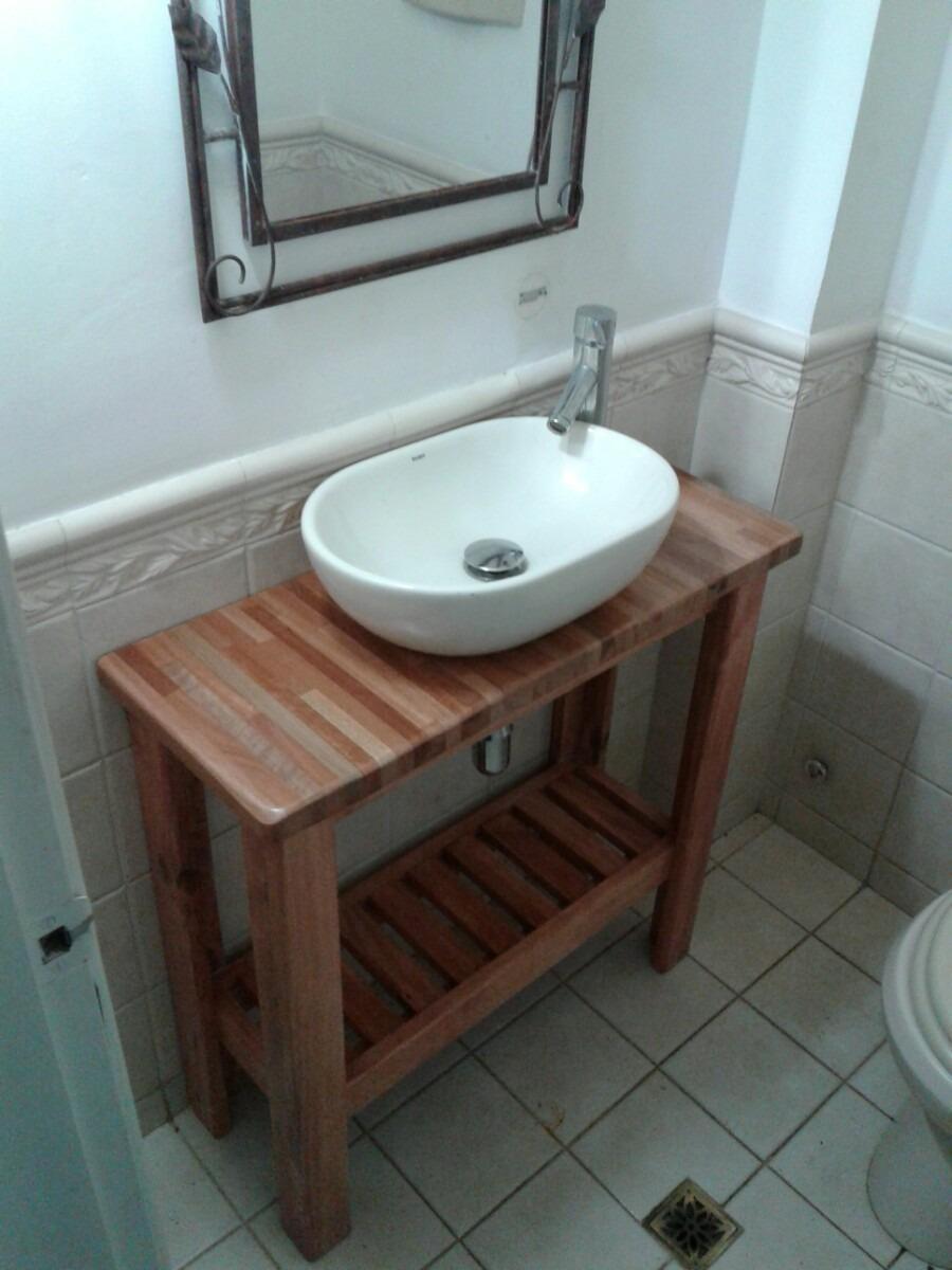 Mueble rustico para bacha de ba o en mercado for Mueble para bano