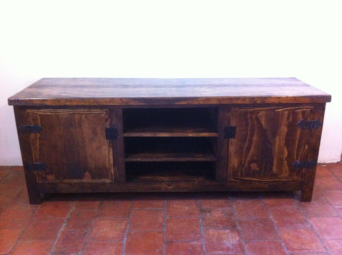 Mueble r stico para tv madera de pino excelente calidad 4 en mercado libre - Muebles rusticos para tv ...