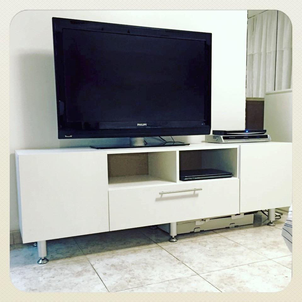 Centro entretenimiento mueble bajo tv sala y oficina for Centro mueble