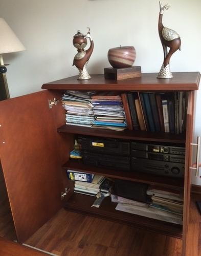 mueble sala de tv  y equipo de sonido, modular