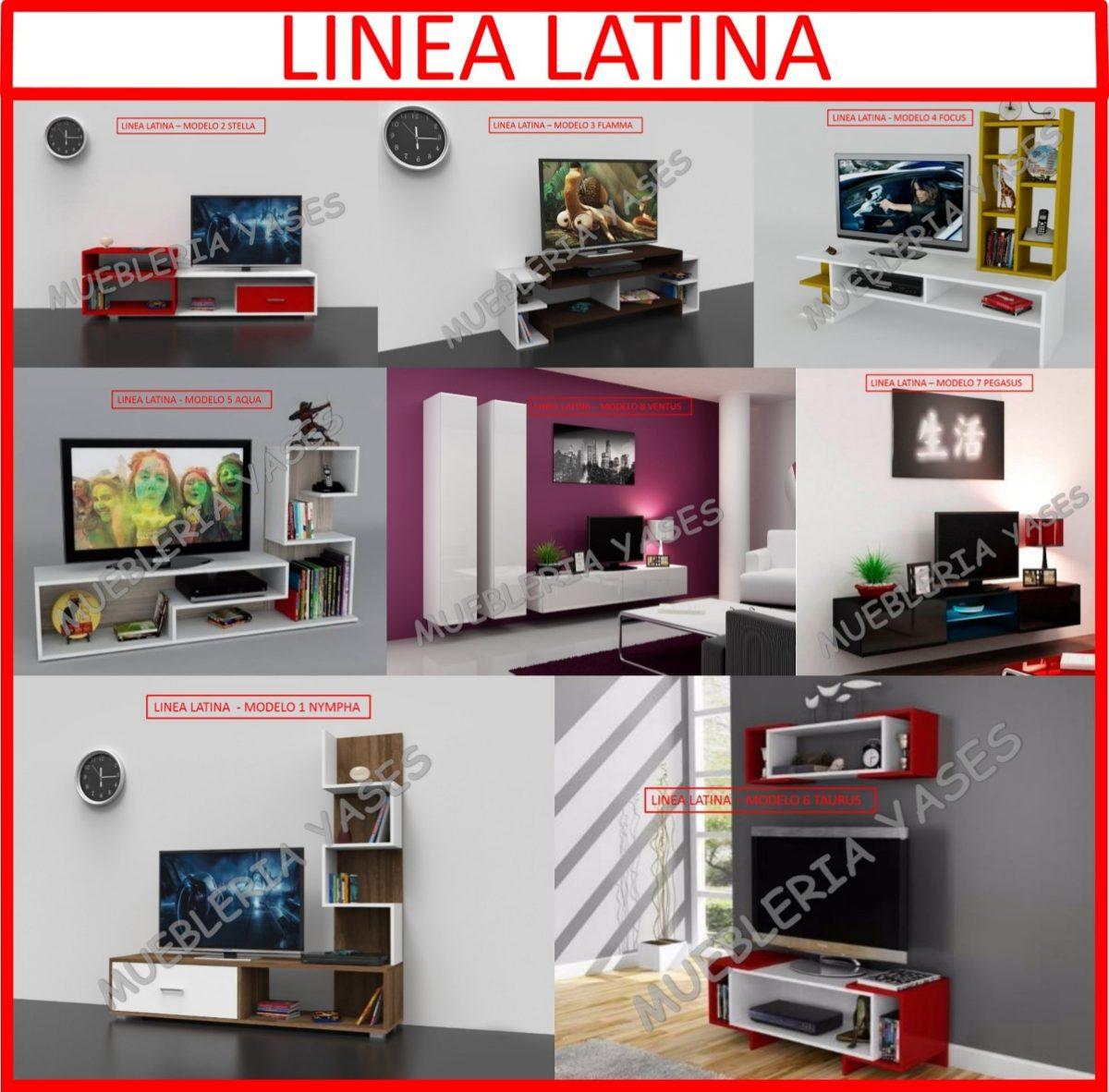 Mueble Sala Modulares Tv Moderno Entretenimiento Latina Bs  # Muebles Centro De Entretenimiento Moderno