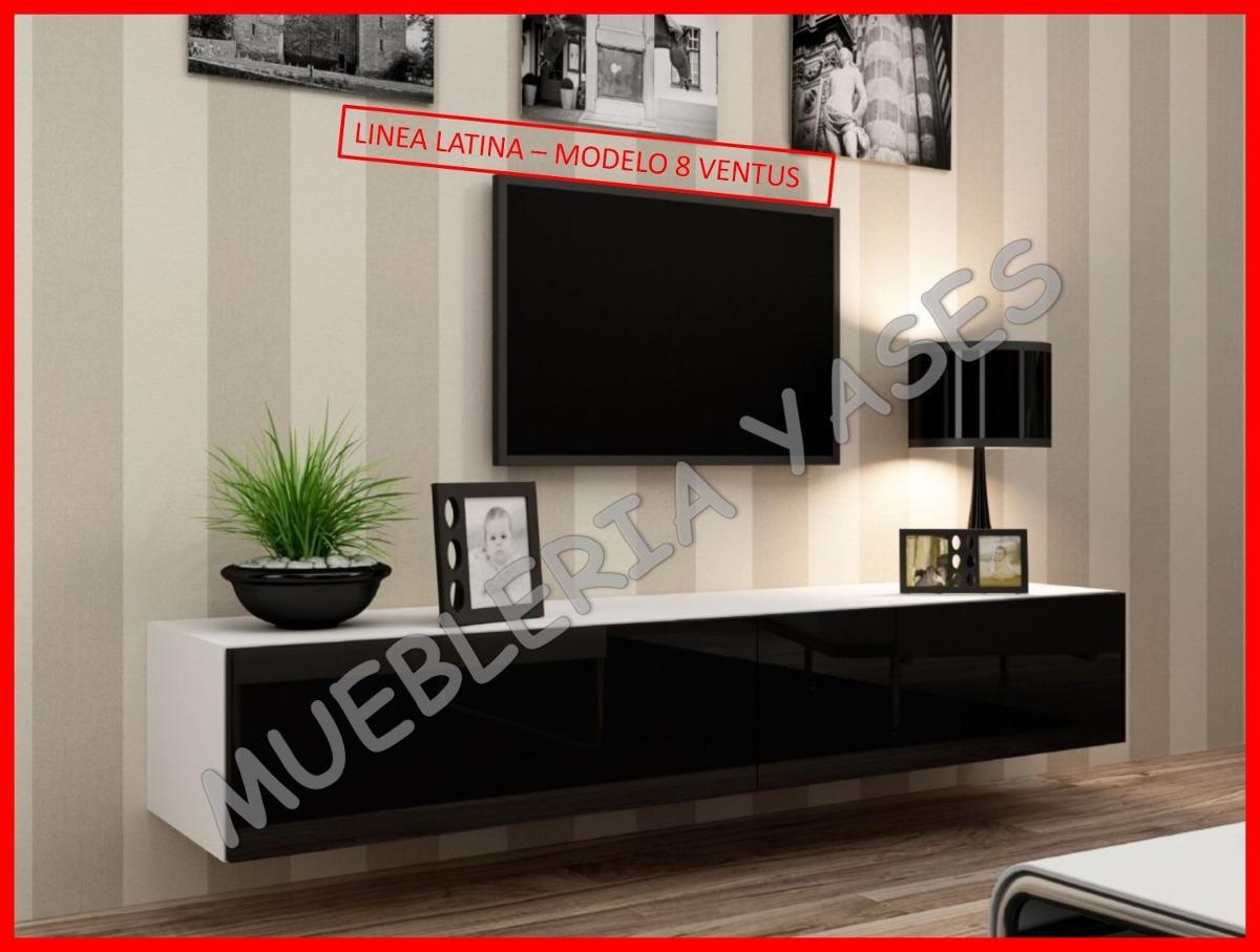 Mueble Sala Modulares Tv Moderno Entretenimiento Latina Bs  -> Muebles Para Tv Modernos 2017