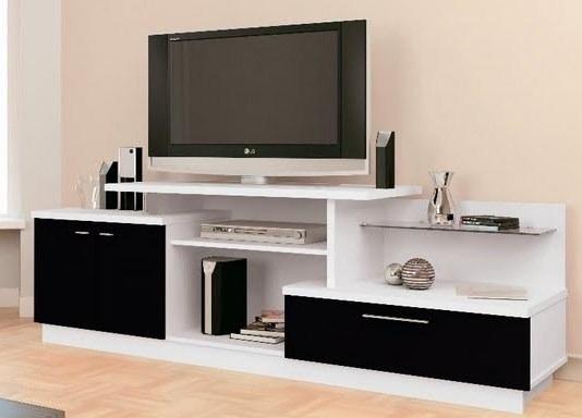 Mueble sili centro de tv de de largo 3 en for Mesas para tv modernas