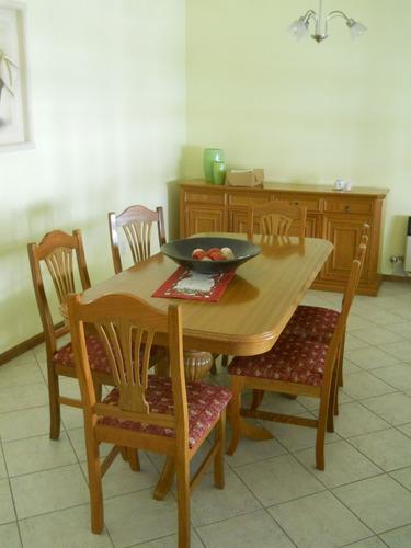 (mueble, sillas, juego comedor