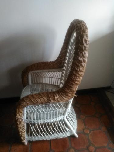 mueble  sillon poltrona de mimbre