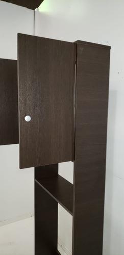mueble sobre inodoro 2 puertas 1 estante con patas melamina+