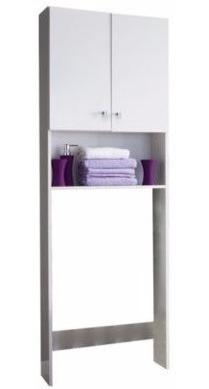 mueble sobre inodoro 2 puertas y estante dfmbc180 kromo-s