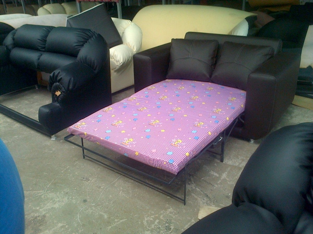 Mueble Sofa Cama Juego De Sala En Semicuero Bs 89 999 500 00  # Muebles Modernos Diga Center
