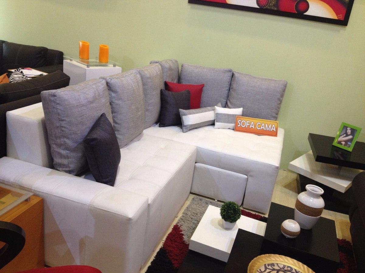 Mueble, Sofa Cama, Modular, Juego De Sala En Semicuero Paris - Bs ...