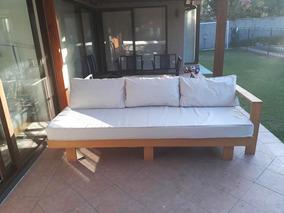 Mueble Sofa Madera Terraza Gran Oportunidad