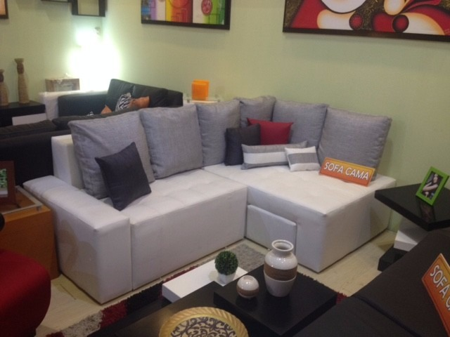mueble sofa sala semicuero