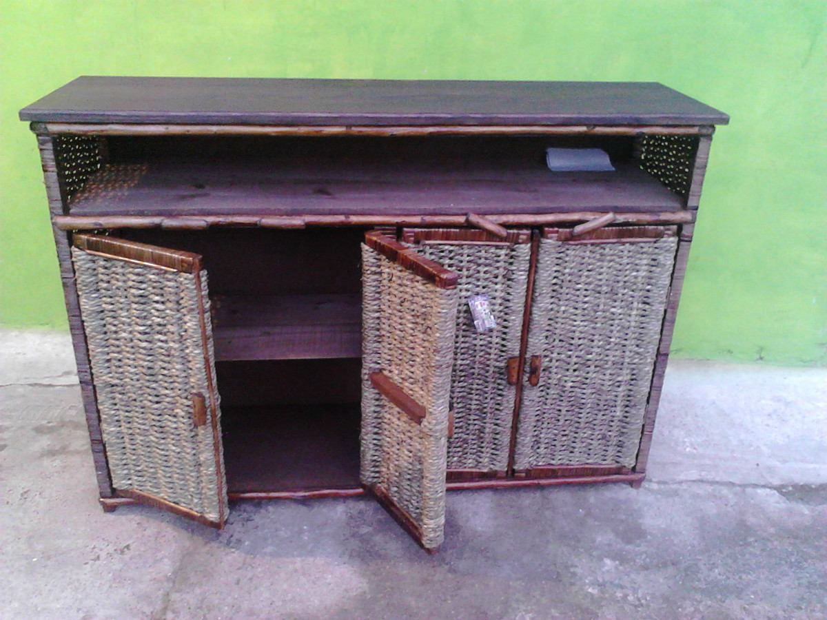 Mueble tapa madera masiza tejido en mimbre cuerda de cardo en mercado libre - Muebles tapa tapa ...