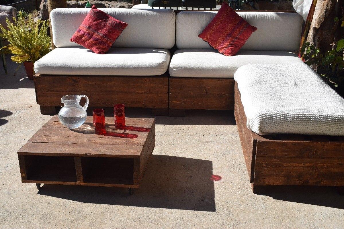 Mueble terraza en l mesa de centro en for Ofertas muebles de terraza