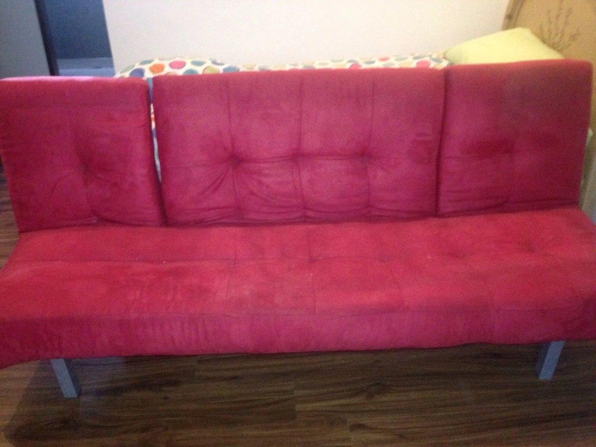 Mueble tipo futon color rojo usado 2 en mercado for Futon 2 plazas precio