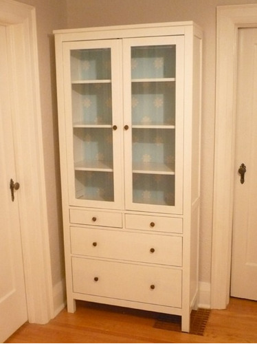 Mueble Tipo Hemnes Ikea Gabinete Puertas De Vidrio - $ 14,999.00 en Mercado L...