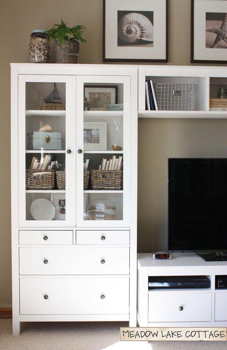 Mueble tipo hemnes ikea gabinete puertas de vidrio - Muebles television ikea ...