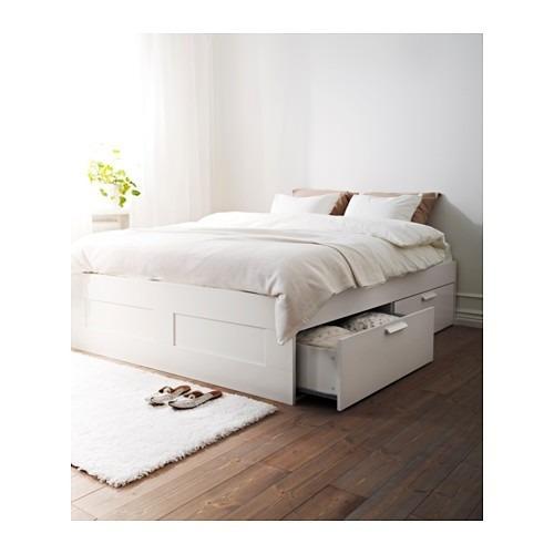mueble tipo ikea brimnes base para cama queen con cajones