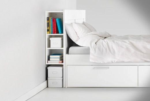 Mueble tipo ikea brimnes cabecera de cama con compartimentos 4 en mercado libre - Mueble cama ikea ...