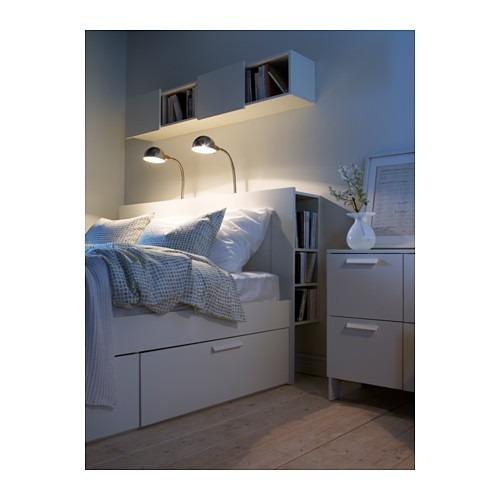 Mueble tipo ikea brimnes cabecera de cama con - Camas muebles en ikea ...