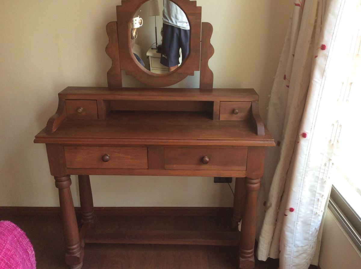 Mueble tocador madera noble en mercado libre for Sillas para tocador