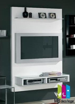mueble tv 32'  rack colgante moderno. ¡armado! mod 25