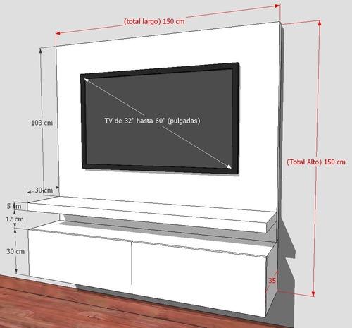mueble tv  lacado ref. mural18  panel oculta cables