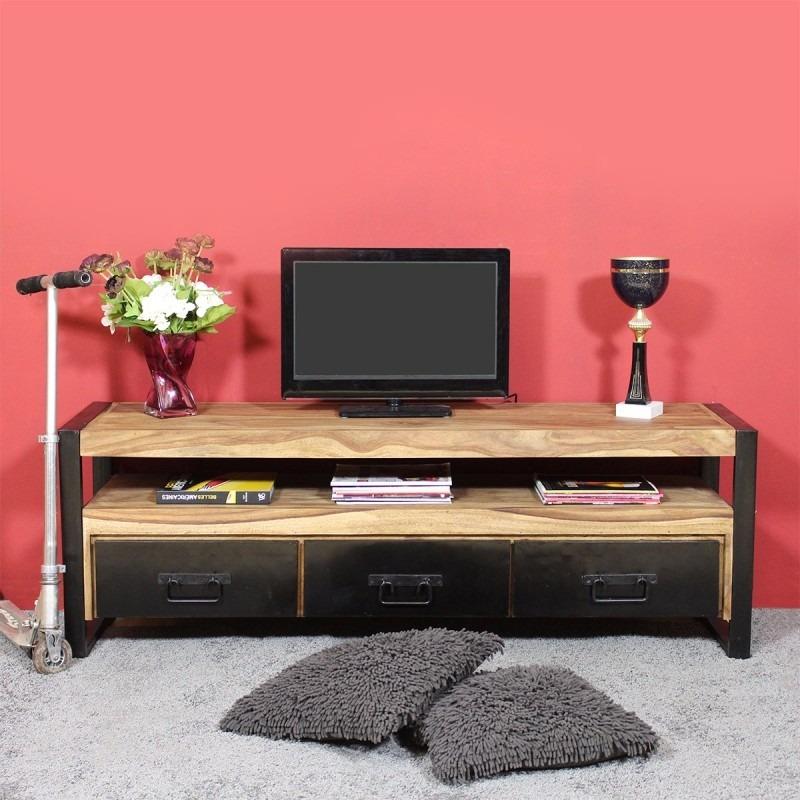 Mueble Tv Lcd Led Industrial Vintage Madera Hierro 1,80 Nor3 ...