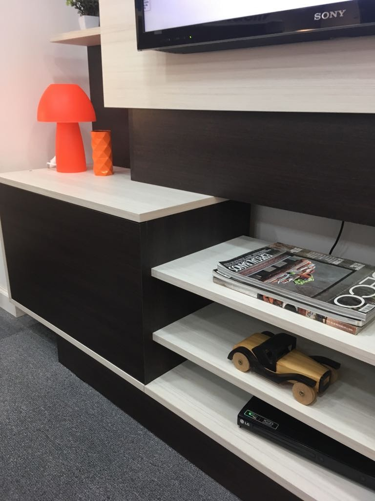 Mueble Tv Lcd Led Modular Rack Living Melamina 2×1 7×0 4m  # Muebles Villa Gobernador Galvez