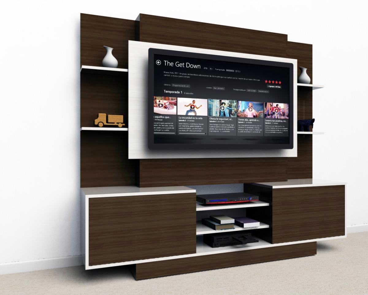 Mueble Tv Lcd Led Modular Rack Living Melamina 2×1 7×0 4m  # Muebles Rack Para Living