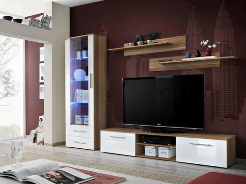 mueble tv lcd rack vajillero modular  modelo moderno 2