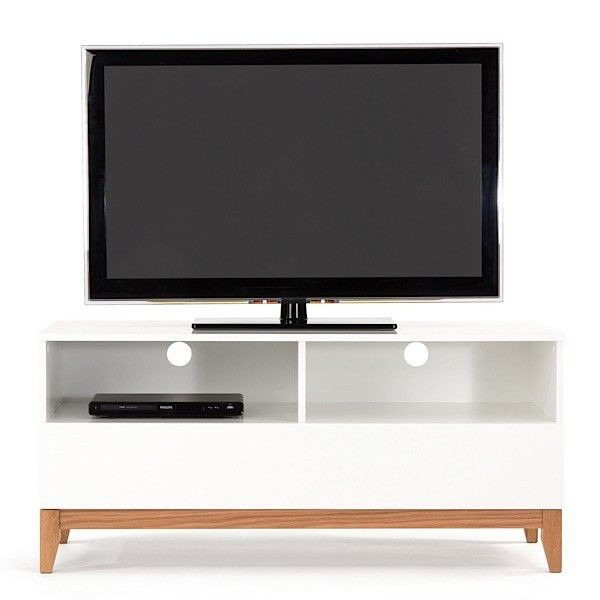 Mueble Tv Madera Roble Y Mdf 120 Cm Largo - Madera Viva - $ 8,282.00 ...