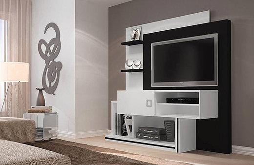 Mueble Tv Moderno Organizador Rack Livin Melamina Comedor - $ 13.960 ...