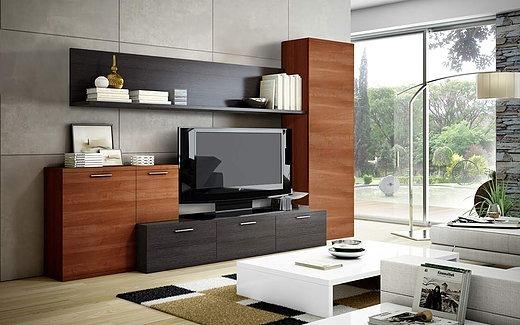 Mueble Tv Moderno Organizador Rack Living Melamina Comedor ...