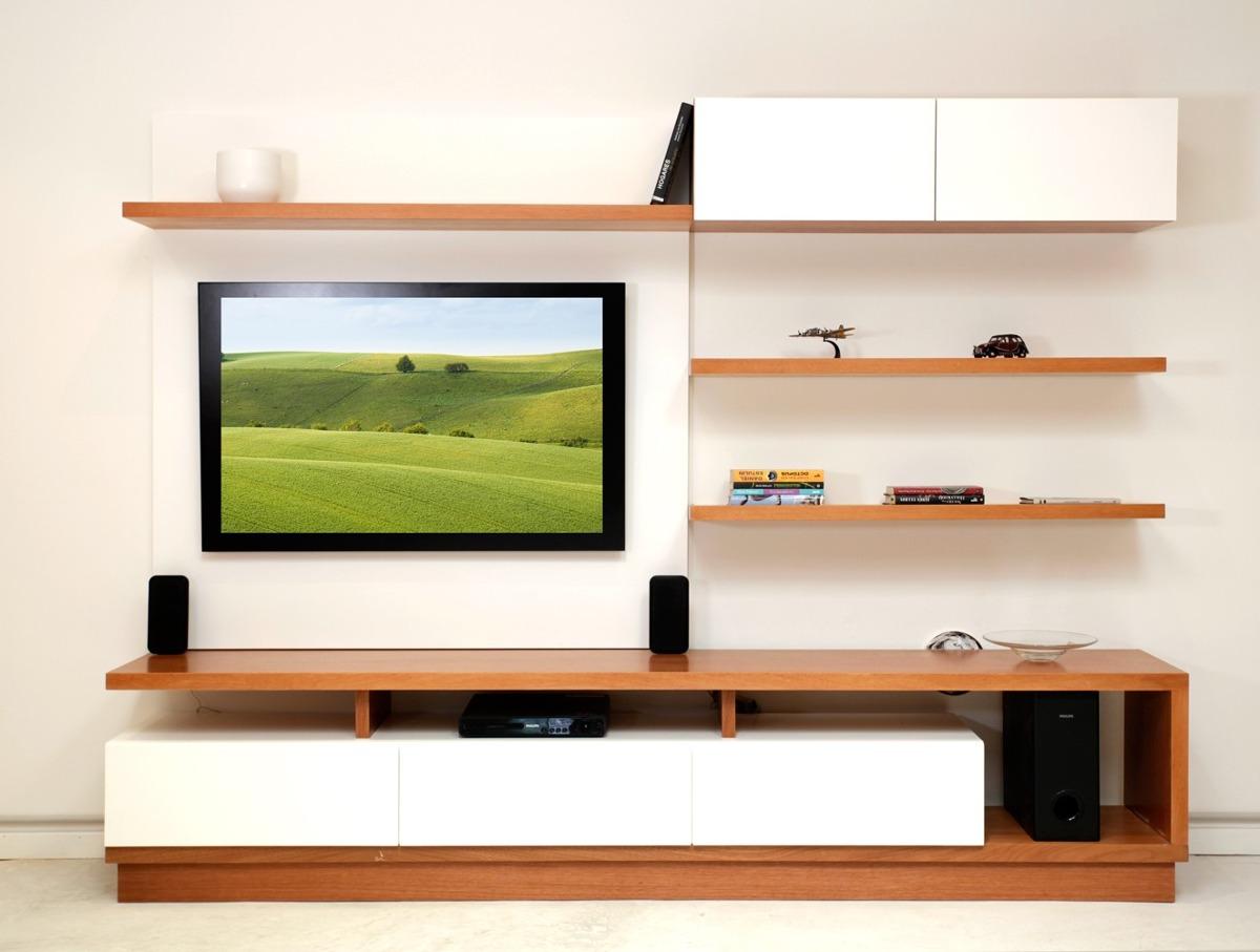 Mueble Tv Rack 2.6 Metros Moderno Madera Forbidan Muebles - $ 26.175 ...