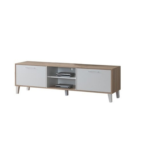 mueble tv rack nordico skopie 180cm 2 puertas melamina