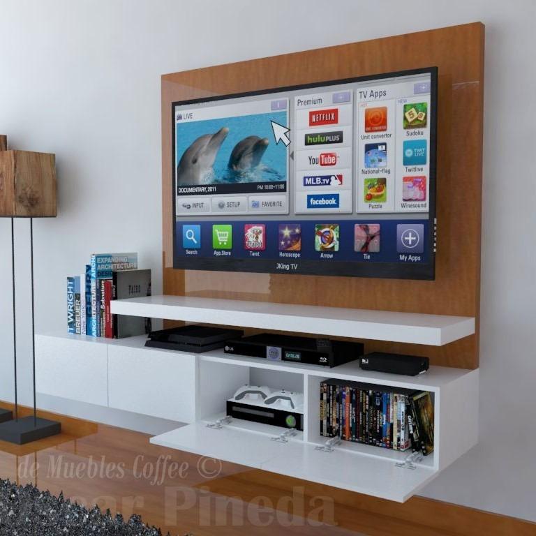 Mueble Tv Ref Mural15 Lacado Poliuretano Ocultar Cables