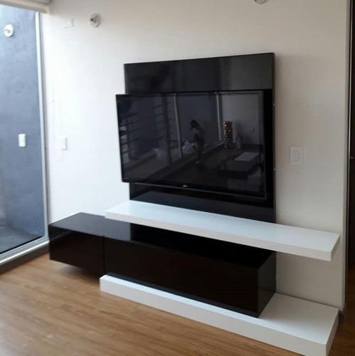mueble tv ref mural16 lacado poliuretano  ocultar cables